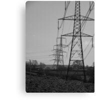Countryside Pylons Canvas Print