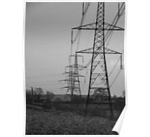 Countryside Pylons Poster