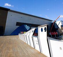 Boardwalks and blue skies by GoldZilla