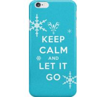 Keep calm and let it go iPhone Case/Skin