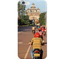 Ride at Sunrise - Vientiane, Laos. iPhone Case/Skin