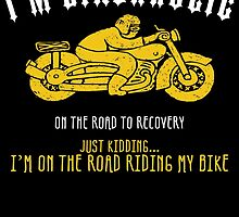 I'M BIKERHOLIC ON THE ROAD TO RECOVERY JUST KIDDING... I'M ON THE ROAD RIDING MY BIKE by cutetees