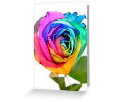 Rainbow Rose 01 Greeting Card