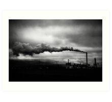 Industrial Eruption Art Print