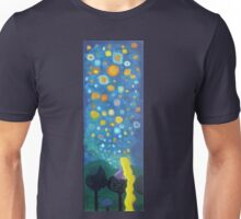 Looking from a window sticker Unisex T-Shirt