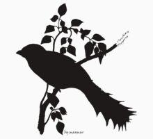 Black Cuban Trogon silhouette by marmur