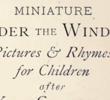 Miniature Under the Window Pictures & Rhymes for Children Kate Greenaway 1880 0005 Title Plate Sticker