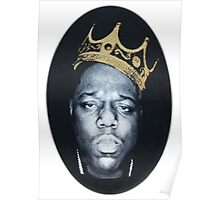 Notorious Big Biggie Wearing King Crown NY Poster