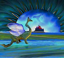 Winged beast and floating castle helps the mind release its shackle by Donuts