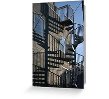 Stair Shadows Greeting Card