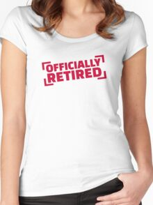 Officially retired Women's Fitted Scoop T-Shirt