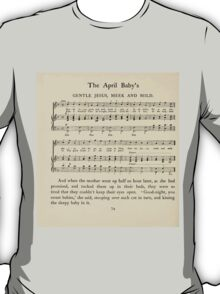 The April Baby's Book of Tunes by Elizabeth art Kate Greenaway 1900 0116 Gentle Jesus Meek and Mild T-Shirt
