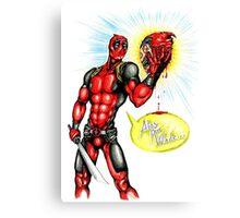 Deadpool/Hamlet Canvas Print