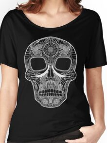 Inked Candy Skull - Journey - White Women's Relaxed Fit T-Shirt