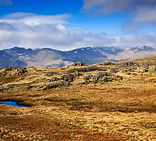 Crinkle Crags & Bow Fell - Cumbrian Lake District by David Lewins