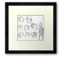 More pen sketching Framed Print