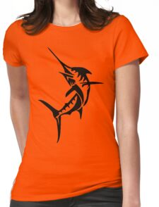 Swordfish, Fishing Silhouette Womens Fitted T-Shirt