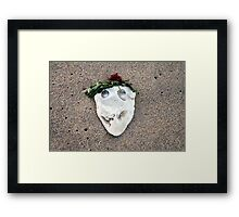 Whats behind the mask? Framed Print