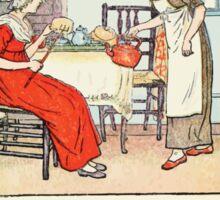 Mother Goose or the Old Nursery Rhymes by Kate Greenaway 1881 0029 Polly Put the Kettle on Sticker