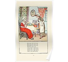 Mother Goose or the Old Nursery Rhymes by Kate Greenaway 1881 0029 Polly Put the Kettle on Poster