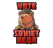 Vote soviet bear meme Photographic Print