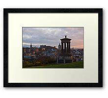 Sunset Over Edinburgh Framed Print