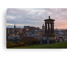 Sunset Over Edinburgh Canvas Print