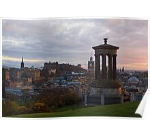 Sunset Over Edinburgh Poster