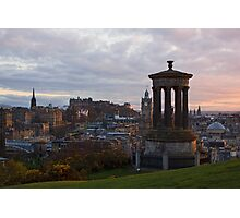 Sunset Over Edinburgh Photographic Print