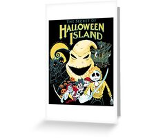 The Secret of Halloween Island Greeting Card
