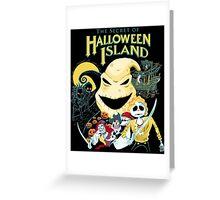 The Secret of Halloween Island Greeting Card