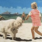 Girl With A White Dog by Varvarasty