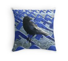 firm purchase (raven upon shopping trolleys) Throw Pillow