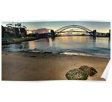 Sydney Rocks - Sydney Harbour (HDR Panorama) - The HDR Experience Poster
