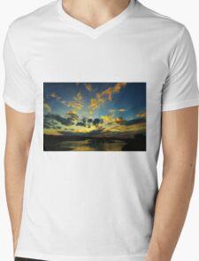 Marina Sunset Mens V-Neck T-Shirt