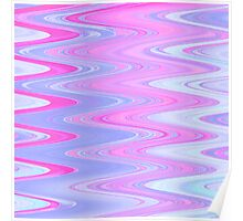 Pink and Blue Bubble Gum Wave Poster