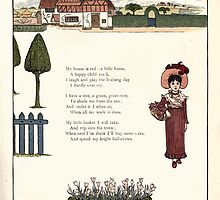 Under the Window Pictures and Rhymes for Children Edmund Evans and Kate Greenaway 1878 0065 Little Red House by wetdryvac