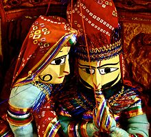 Indian marionettes by Amanda  Kendall