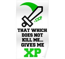 """""""That Which Does Not Kill Me...Gives Me XP"""" RPG Game Quote Poster"""