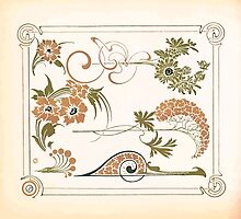 Maurice Verneuil Georges Auriol Alphonse Mucha Art Deco Nouveau Patterns Combinaisons Ornementalis 0053 by wetdryvac