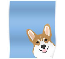 Corgi Peek  cute dog welsh corgi gift unique pet customizable gifts for dog lovers Poster