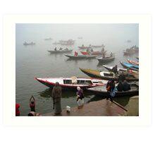 Dawn on the Ganges Art Print