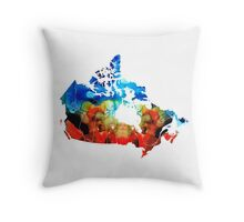 Canada - Canadian Map By Sharon Cummings Throw Pillow