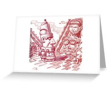 Time Traveling to the Aztecs Greeting Card
