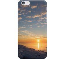 Greeting the Winter Sun on the Lake iPhone Case/Skin