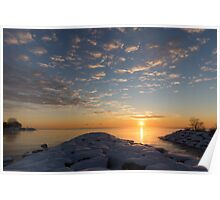 Greeting the Winter Sun on the Lake Poster