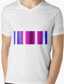 Striped colours Mens V-Neck T-Shirt