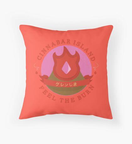 Kanto Gym Logos - Cinnabar Island (2015) Throw Pillow