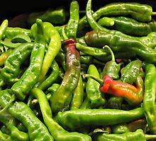 Green Chiles by joAnn lense