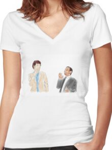 You're the Tom to my Jean-Ralphio Women's Fitted V-Neck T-Shirt